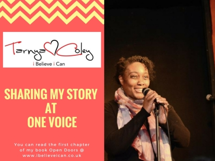 SHARING MY STORY AT ONE VOICE